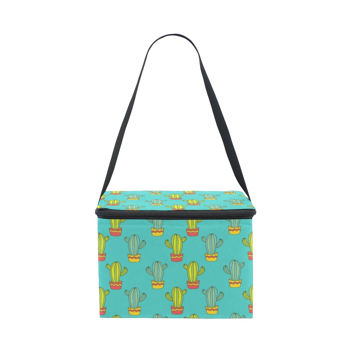 ALAZA Cactus Succulent Insulated Lunch Bag Box Cooler Bag Reusable Tote Bag Outdoor Travel Picnic Bag With Shoulder Strap for Women Men Adults Kids