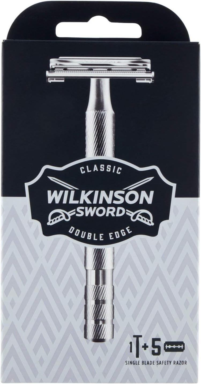 Wilkinson Sword Classic Vintage Edition Herren Rasierer mit 5 Rasierklingen um 6,62€