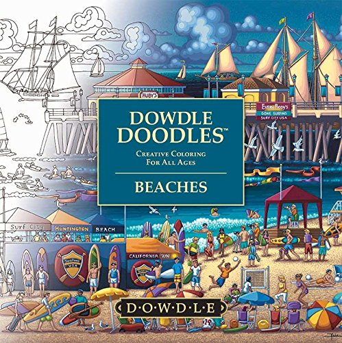 Dowdle Doodles - Adult and Family Coloring Book - USA and World Beaches