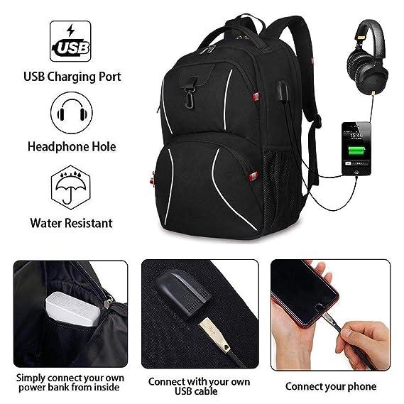 Kroser School Laptop Backpack 17.3 Inch Xl Heavy Duty Travel Computer Backpack W