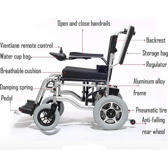 Amazon.com: HTYX - Silla de ruedas eléctrica de aleación de ...