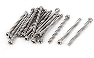 uxcell M3x45mm 0.5mm Pitch Bolts Socket Cap Head Hex Key Screws 20pcs