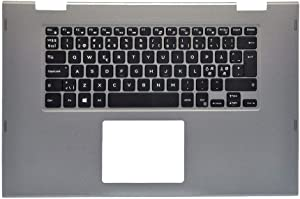 GAOCHENG Laptop Palmrest for DELL Inspiron 15 5568 5578 P58F Gray 00HTJC 0HTJC 0J83YF J83YF with Nordic NE Backlit Keyboard Upper case New