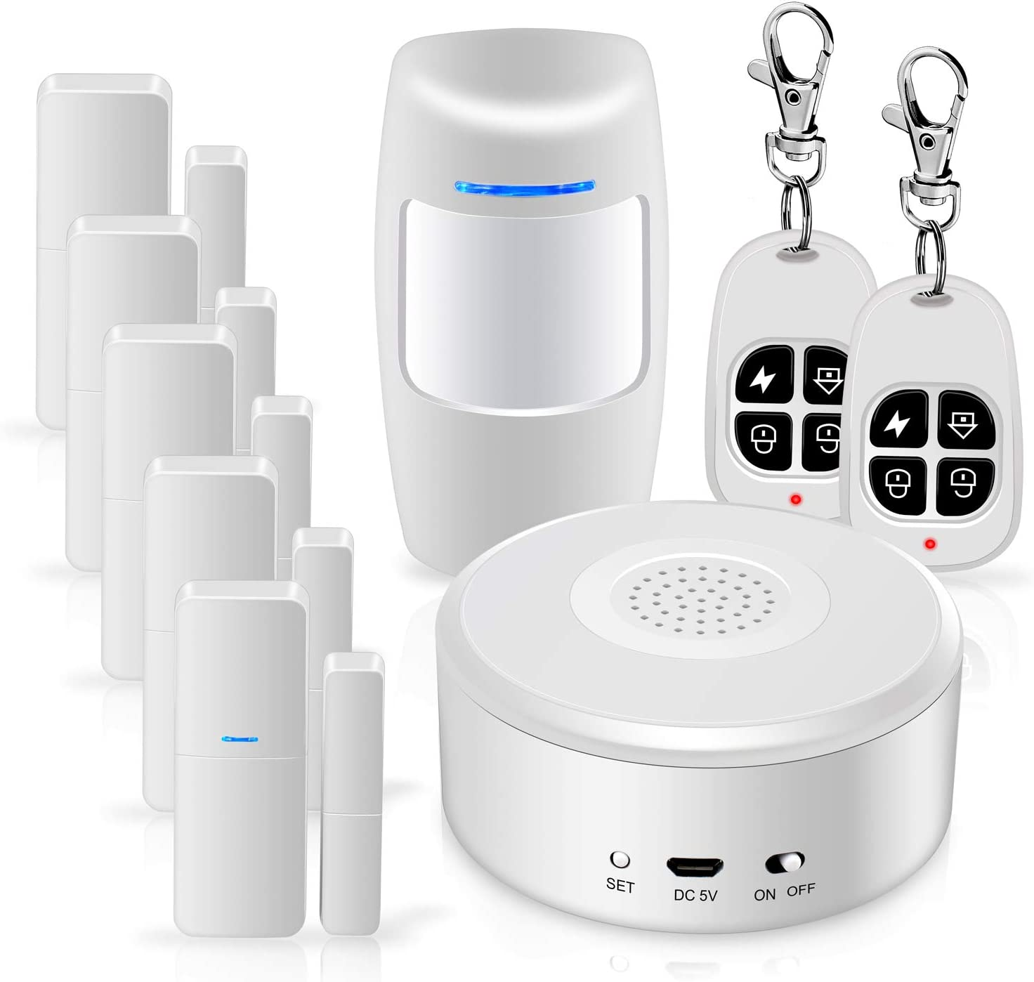 WiFi Alarm System Kit Smart Security System DIY No Monthly Fee Wireless with APP Push and Calling Alarms for Home Apartment