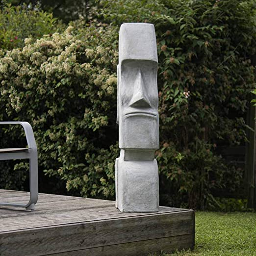 Wanda collection Estatua Moái Isla de Pascua jardín Zen 1,20 m: Amazon.es: Jardín