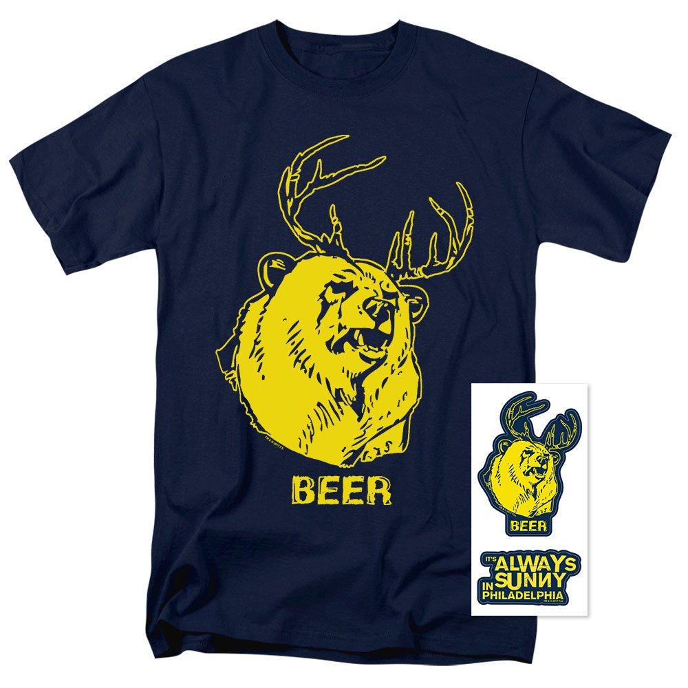 2fc6c2cfe1bfff Amazon.com  It s Always Sunny in Philadelphia Beer T Shirt  Clothing