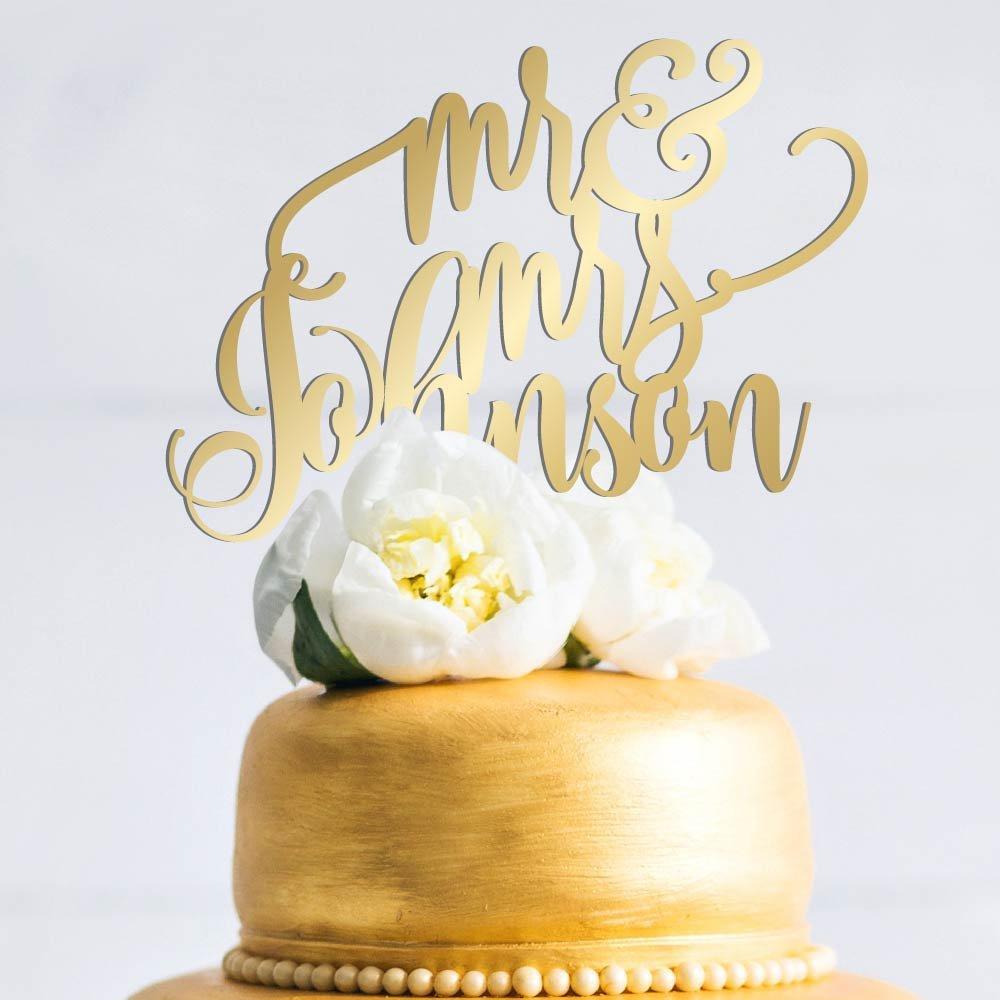 Amazon.com: Amazing Items Personalized Wedding Cake Topper ...