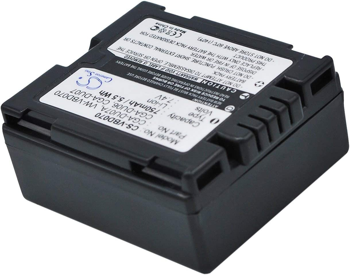XPS Replacement Battery Compatible with PANASONIC NV-GS100K NV-GS120K NV-GS17EF-S NV-GS180 NV-GS180EB-S NV-GS180EG-S NV-GS200K NV-GS230 NV-GS230EB-S NV-GS27