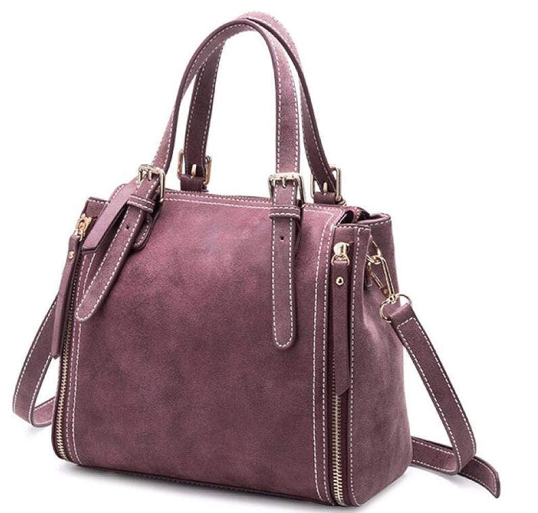 Handtaschen Für Damen PU Leder Handtasche Scrub Rindsleder Mit Schultergurt Mode Handtasche Umhängetasche Leicht Für Frauen