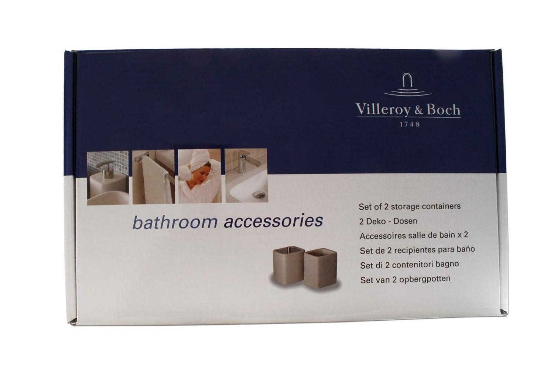Villeroy & boch 2 deko dosen set für badezimmer kosmetik