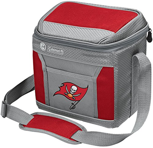 (Coleman NFL Soft-Sided Insulated Cooler Bag, 9-Can Capacity with Ice, Tampa Bay Buccaneers)