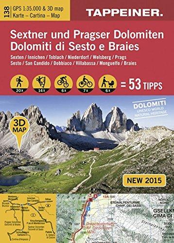 Cartina 3d Dolomiti.3d Wanderkarte Sextner Und Pragser Dolomiten 1 35 000 Cartina Escursionistica 3d Dolomiti Di Sesto E Braies 9788870737066 Amazon Com Books