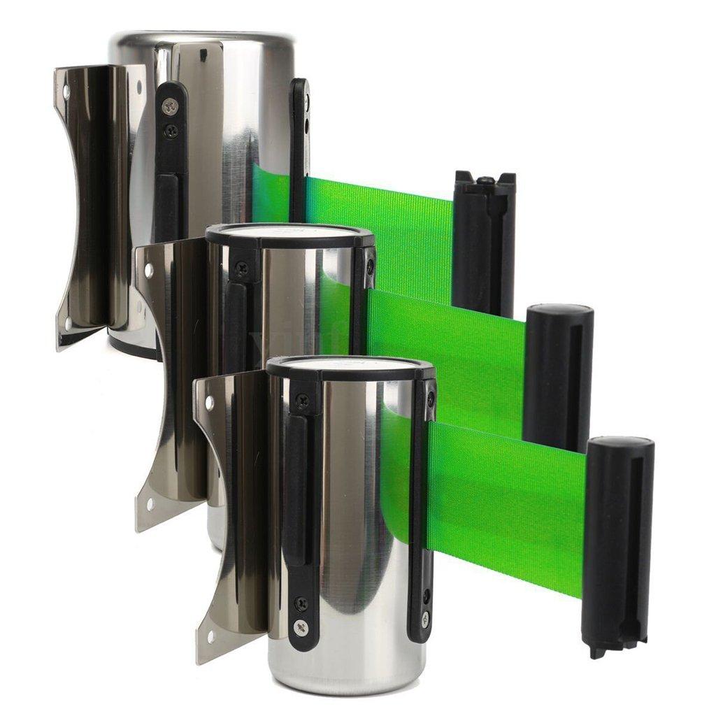 Verde 2 m Cinta de Seguridad Barrera Barricada DIY Cintur/ón Retr/áctil Accesorios de Barrera de Banco Aeropuerto