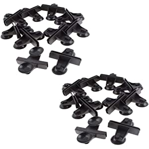 Yohii 20Pcs Aquarium Fish Tank Plastic Sucker Clip Divider Sheet Holder Black