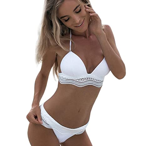 Bikini Set ,MEIbax Donna Costumi da Bagno Benda Triangolo Bikini Set  Push-up Reggiseno
