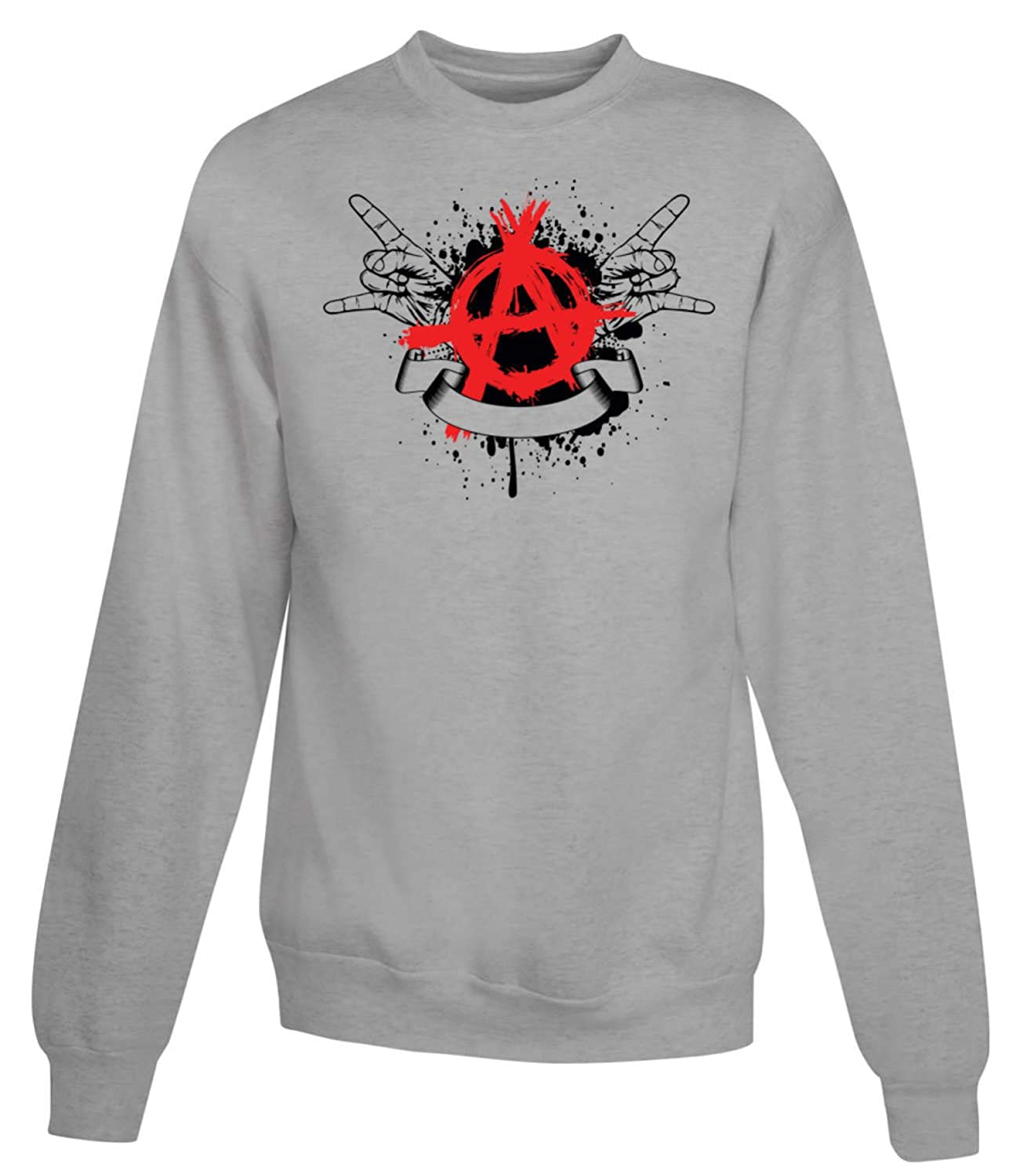 Red Symbol Anarchy With Hand Women's Unisex Sweatshirt
