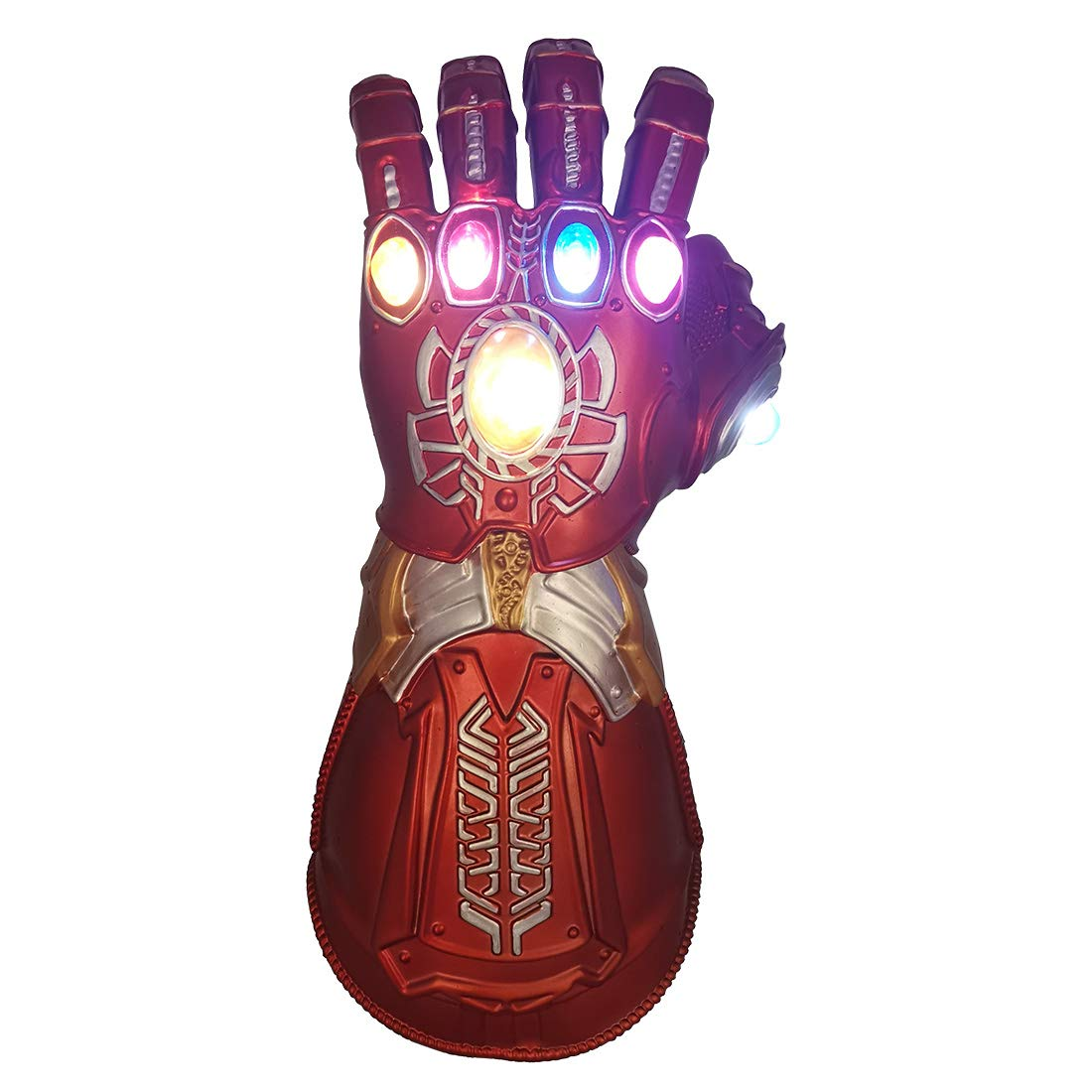 Bulex Thanos Glove LED Light Up Infinity Gems Gauntlet Toy (Kids Size Red)