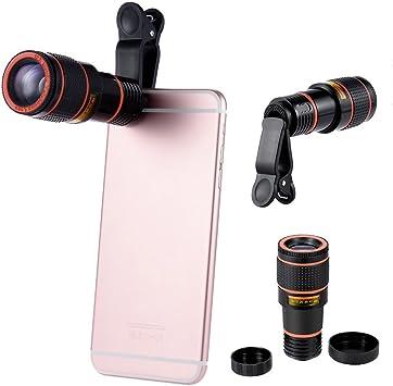 Smartphone lente de cámara, hizek 12 x Enfoque manual UNIVERSAL ...