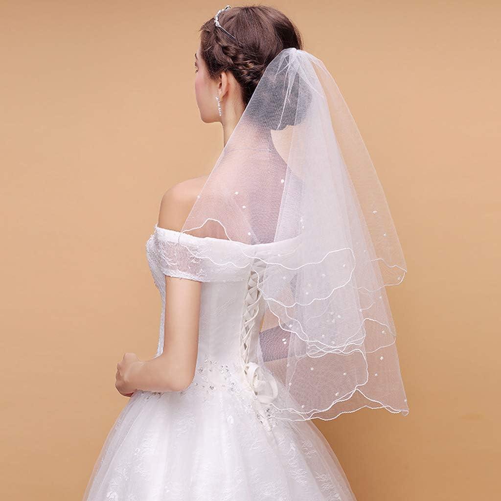 Pearl Veils For Brides Ivory Pearl Veil Headbands,Ribbon Edge,Cathedral Wedding Veil Wedding Veil Layers