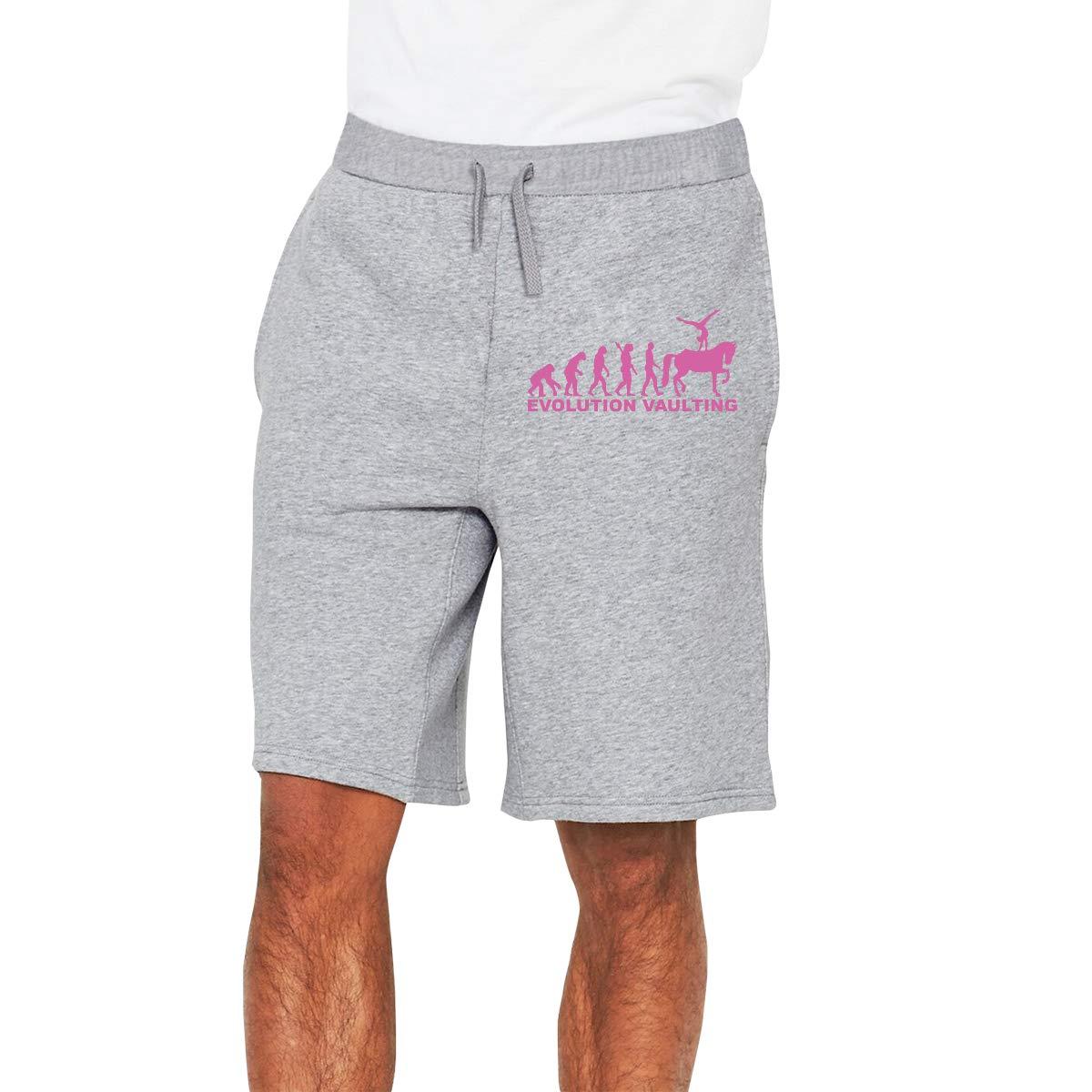 Yecx-1 Mens Horse Vaulting Evolution Jogger Shorts Pajama Short