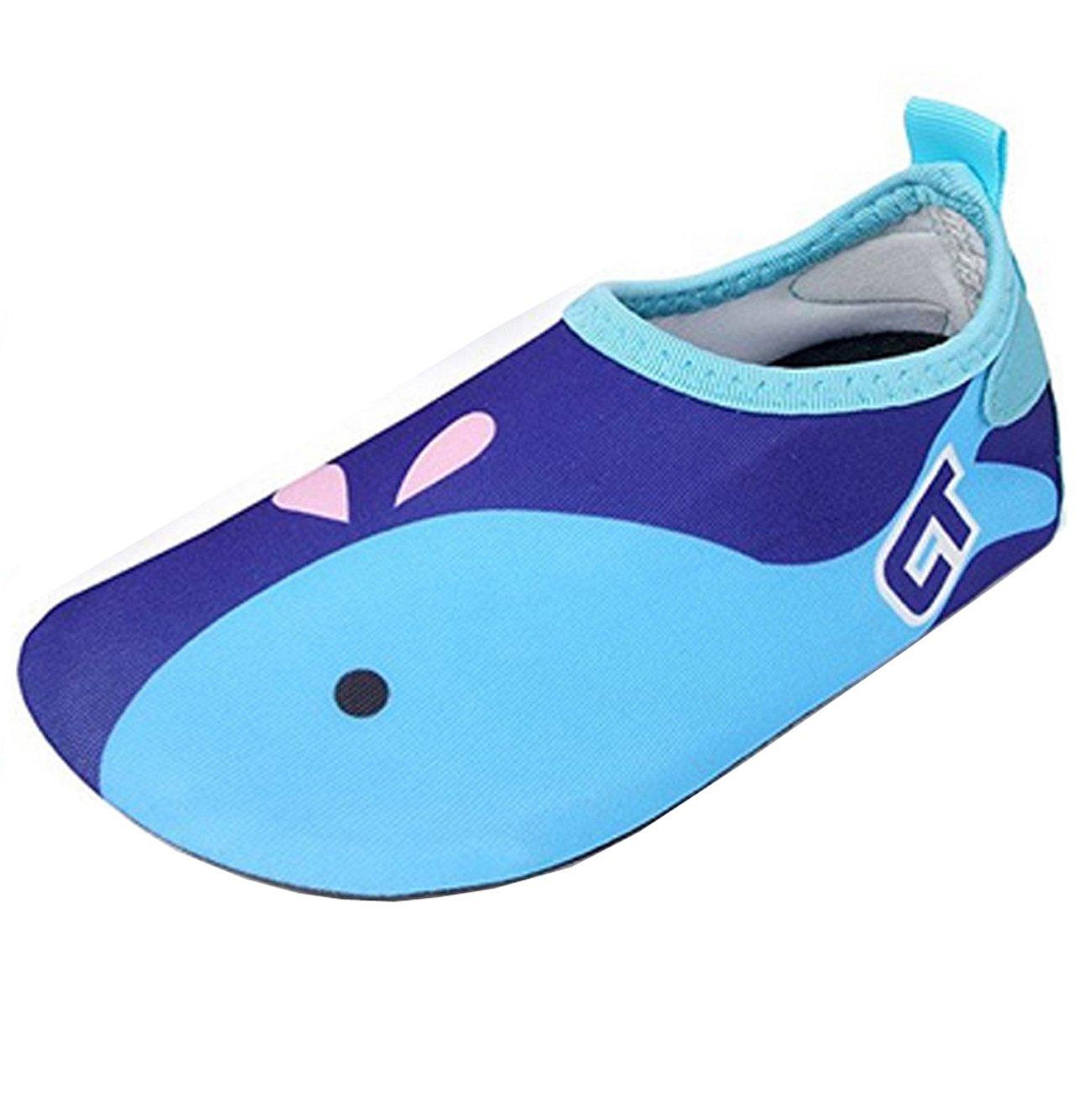 94d2bad21 ECOTISH Zapatos Agua de Natación Infantil para Niños Niñas Slip on Suave Zapatillas  Deportivos Acuático para ...