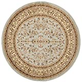 Safavieh LNH331G Lyndhurst Collection Round Area Rug, 6-Feet Diameter, Grey and Beige Picture