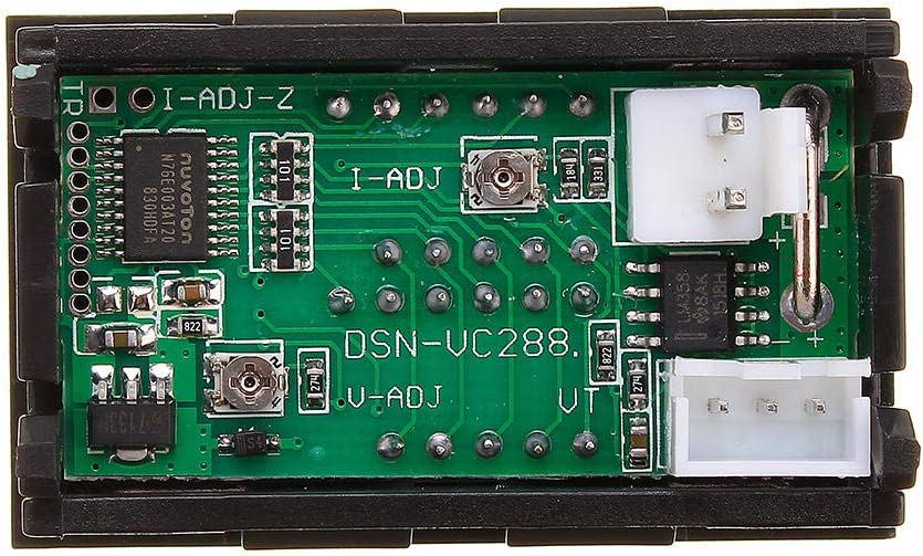 KASILU EJG0114 0.56 DC 100V 50A Red+Red Dual LED Display Miniskirt Digital Voltmeter Ammeter Panel Amp Volt Voltage Stream Meter Tester High-Performance