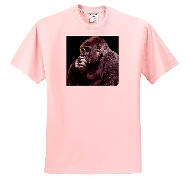 Photography Portrait of a Gorilla Ape Zoo Wildlife Jungle ts/_320111 3dRose Sven Herkenrath Animal Adult T-Shirt XL