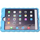 Apple iPad mini iPad mini Retina iPad mini 3 Hideaway with Stand Light Blue Gumdrop Cases Silicone Rugged Shock Absorbing Protective Dual Layer Cover Case