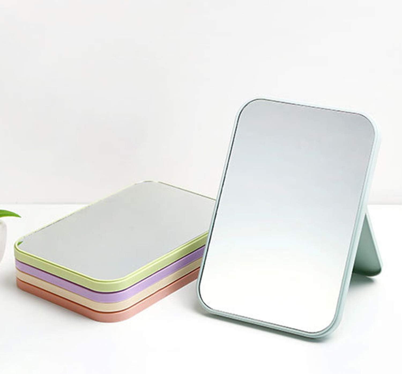 FairytaleMM Folding Portable Large Square High Definition einseitig Kosmetikspiegel pink