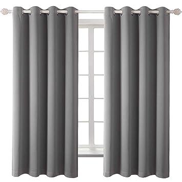 Amazonde Vorhang Blickdichte Vorhänge Mit ösen 137 Cm X 117 Cm H