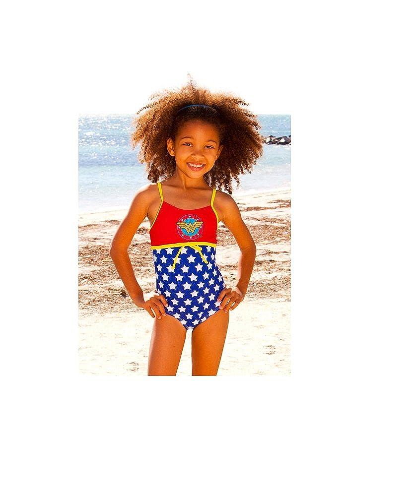 7c3603367ad22 Wonder Woman Dc Comics Infant/Toddler One Piece Swimsuit - 311 (4T):  Amazon.co.uk: Clothing