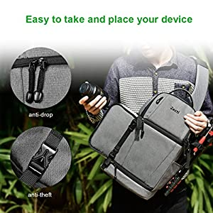 Zecti Sling Camera Bag for DSLR Camera (Canon Nikon Sony Pentax Olympus and etc.) Gray