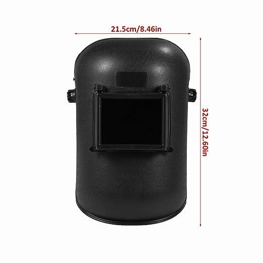 Soldador mascarilla de seguridad con pantalla ajustable gama 4/9-13 MIG/TIG soldador(negro): Amazon.es: Industria, empresas y ciencia
