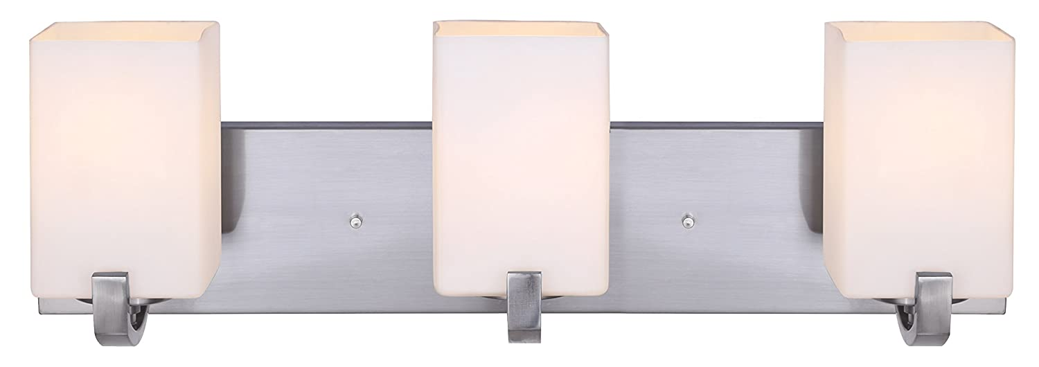 Canarm IVL422A03BN Palmer 3-Light Bath Vanity, Brushed Nickel