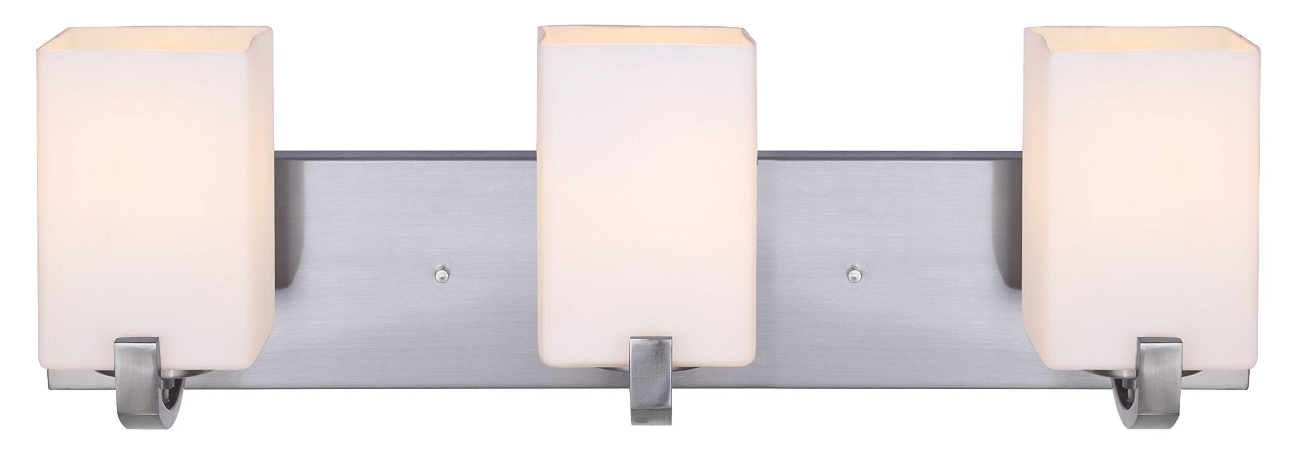 Canarm IVL422A03BN Palmer 3-Light Bath Vanity, Brushed Nickel