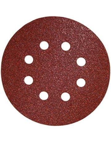 50 Piezas Discos de pulir velcro ø 125 mm Tamaño de grano 80 para Lijadora orbital