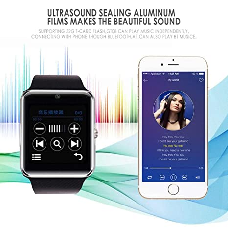 Relojes Inteligentes Smart Watch Gt08 Plus Metal Correa Bluetooth ...