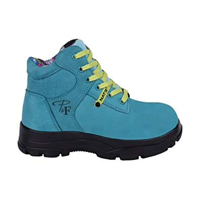 "Women's 6"" steel toe work boots - Turquoise"