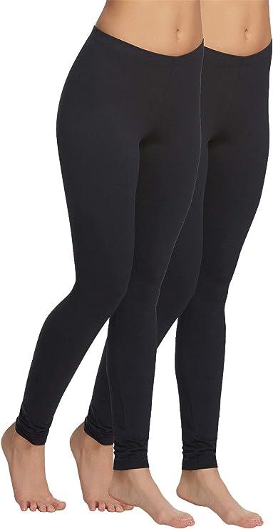 Velvety Super Soft Lightweight Legging 2-Pack (Black, Large) at Amazon Women's Clothing store
