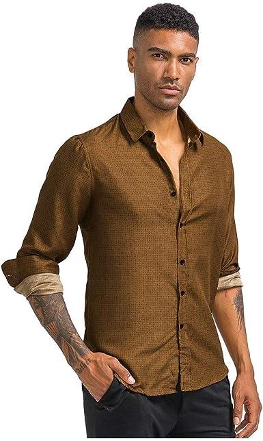 Luckycat Hombre de Camisa fácil de Planchar de Slim Fit para Traje, Business, Bodas, Tiempo Libre – Manga Larga Camisas para Hombres Camisa de Manga Larga: Amazon.es: Ropa y accesorios