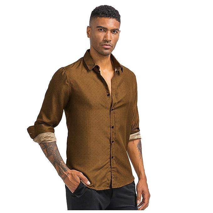 Luckycat Hombre de Camisa fácil de Planchar de Slim Fit para Traje ...