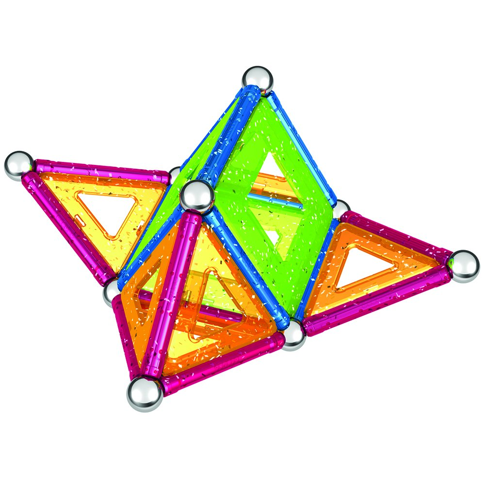44-Piece Set Geomag Panels Glitter Variety Game Set