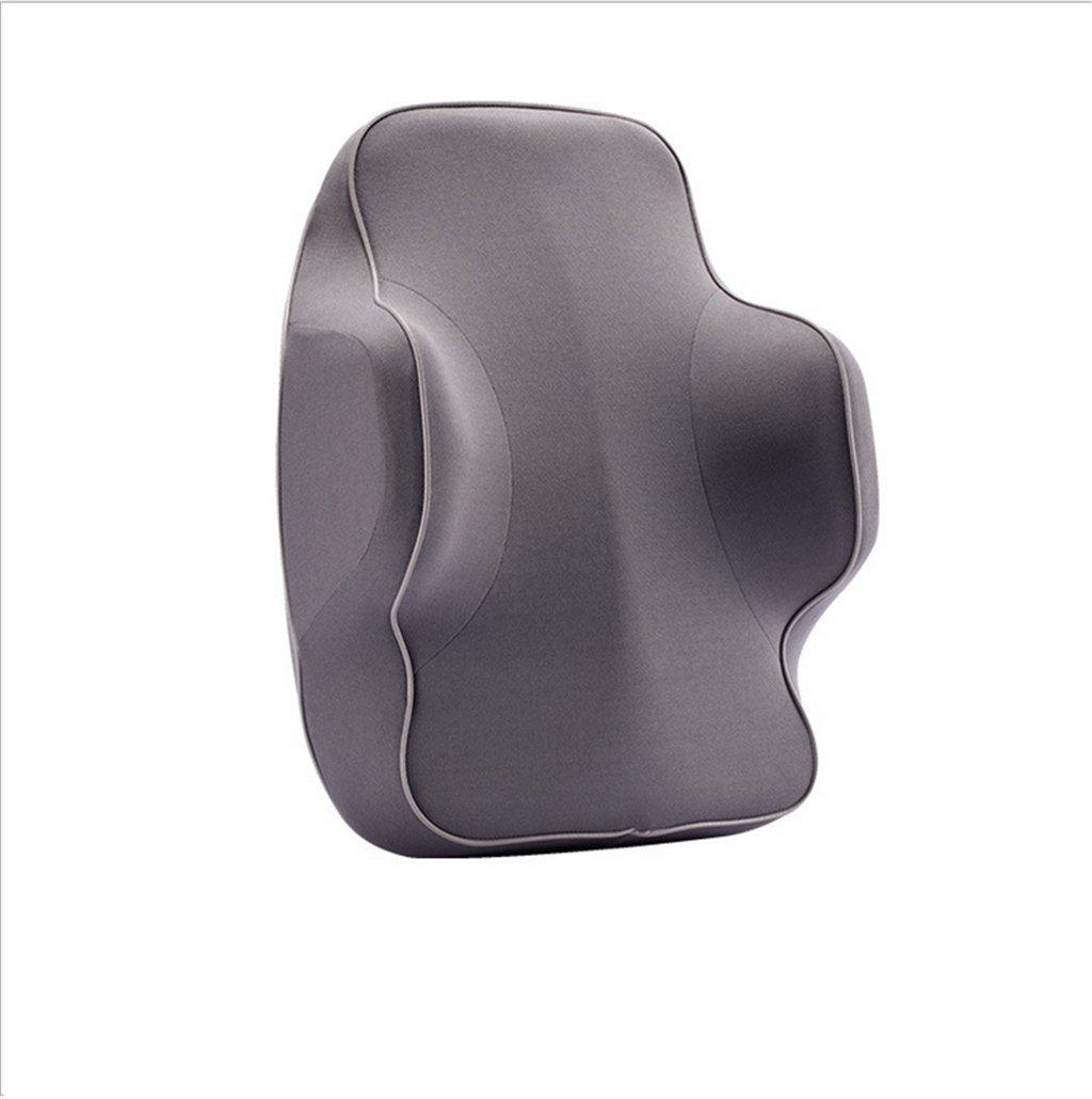 LSQR Universal Auto Taille Kissen, Auto Memory Foam Taille Kissen, Reise/Büro/Home/Auto,grau