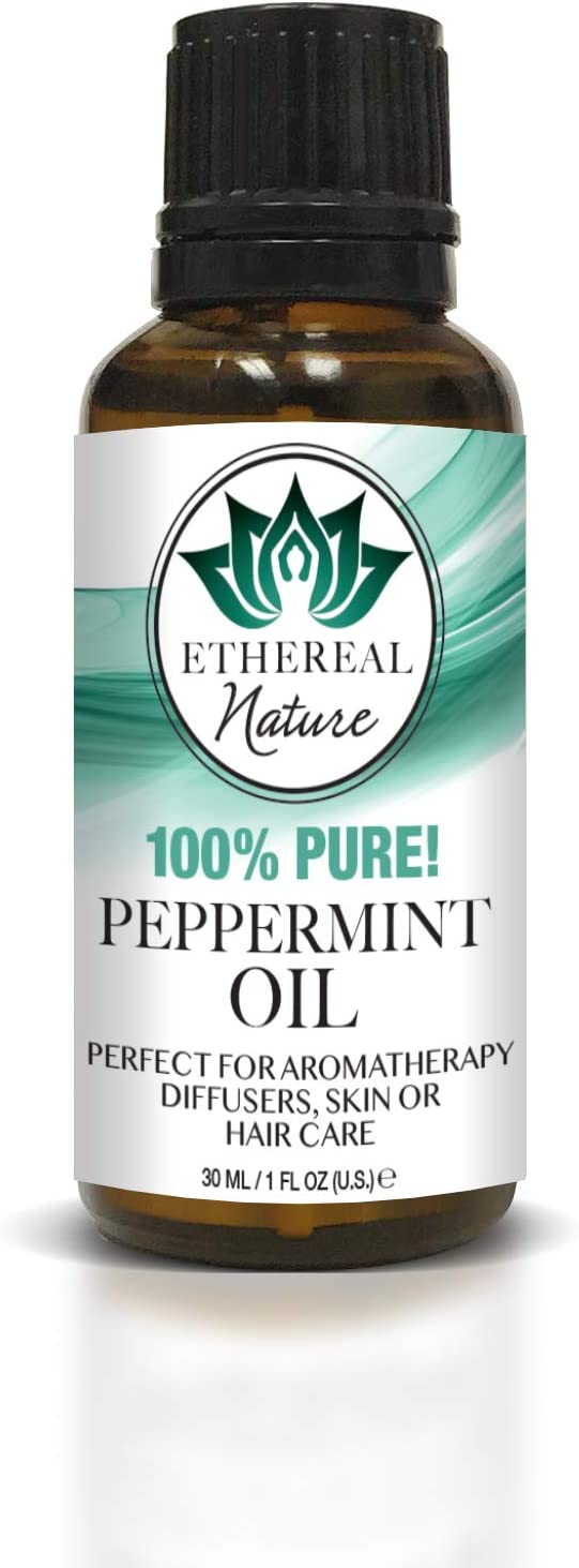 Ethereal Nature 100% Pure Oil, Peppermint, 1.01 Fluid Ounce