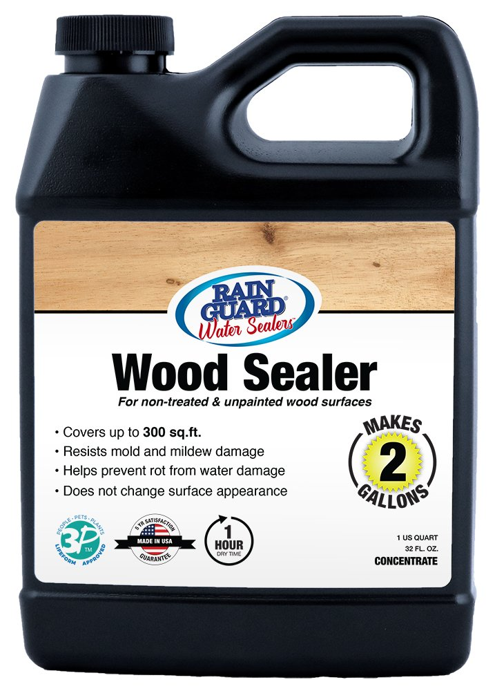 Rainguard SP-8002 32 Oz Concentrate (Makes 2 Gallons) Premium Wood Sealer, Water Repellent Protection for Wood Surfaces