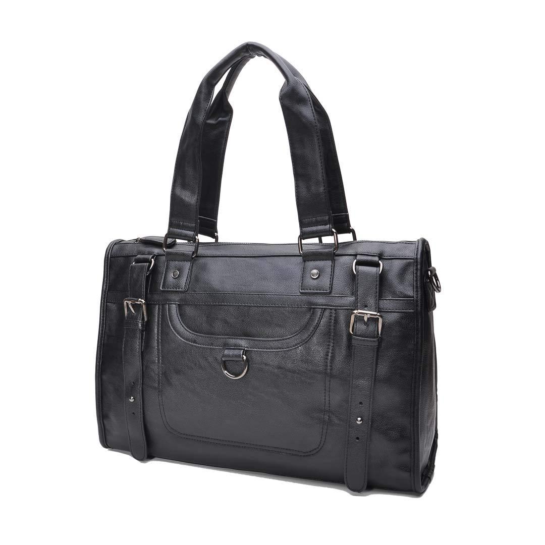 Aktentasche Businesstasche Leder Herren Damen Lehrertasche XL groß Büro Business Umhängetasche für 15, 6 Zoll Laptop PU-Leder Unisex (Braun)