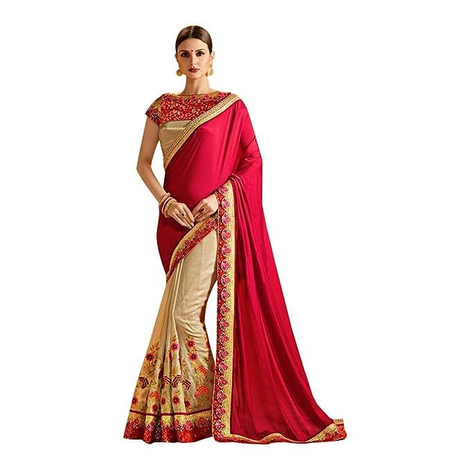 7b806a95d7976 ETHNIC EMPORIUM Matrimonio etnico indiano Seta Saree donna tradizionale abito  da sposa partywear richlook indiano sari