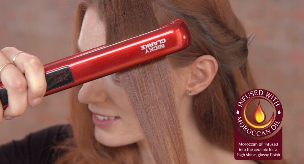 Nicky Clarke Desired Hair Straightener morrocan oil