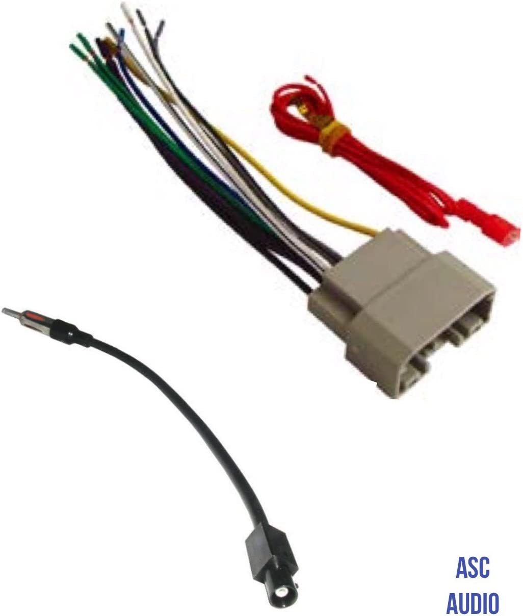 Amazon.com: ASC Audio Car Stereo Wire Harness and Antenna Adapter to  install an Aftermarket Radio for some Dodge Chrysler Jeep Vehicles-  Compatible Vehicles listed below: Car Electronics